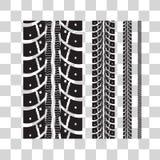 Tire tracks Royalty Free Stock Photo