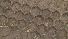 Tire tracks in the dirt. Czech Republic Royalty Free Stock Image