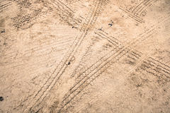 Tire tracks on dirt road Royalty Free Stock Image