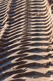 Tire tracks of an excavator Stock Photos