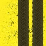 Tire tracks grunge wallpaper vector illustration