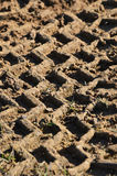 Tire Tracks in Mud Background Stock Photo