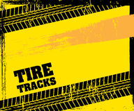 Tire tracks. Over  background vector illustration Stock Images