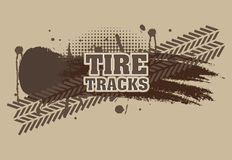 Tire tracks. Over brown background vector illustration Royalty Free Stock Image