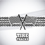 Tire tracks. Over gray background vector illustration Stock Photography