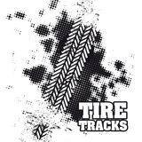 Tire tracks. Over white background vector illustration Royalty Free Stock Image