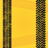 Tire tracks. Over yellow background vector illustration Stock Photos
