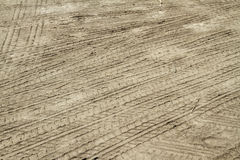 Tire Tracks Print Royalty Free Stock Image