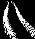 Tire Track Road royalty free illustration
