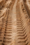 Tire Tracks in the Sand Royalty Free Stock Photos