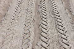 Tire Tracks in Sand Stock Images