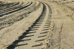 Tire tracks Royalty Free Stock Photography