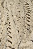 Tire Tracks in Sand Abstract Stock Photos