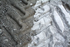 Tire tracks in the sand Royalty Free Stock Image