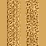 Tire tracks. Seamless illustration. Royalty Free Stock Photography