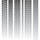 Tire tracks. Set of tire patterns tracks. Vector illustration Stock Images