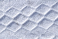 Tire Tracks in the Snow Royalty Free Stock Images