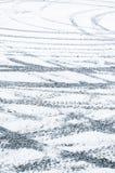 Tire tracks on snow Stock Photography