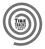 Tire tracks. In spiral shape. Vector illustration on white background Royalty Free Stock Image