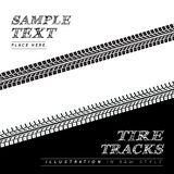 Tire tracks. Vector illustration in black and white style Royalty Free Stock Photo