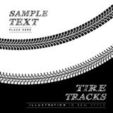 Tire tracks. Vector illustration in black and white style Royalty Free Stock Photography