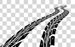 Tire tracks vector. Tire tracks.  Vector illustration on checkered background Stock Photography