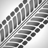 Tire tracks. Vector illustration on light grey background Stock Image