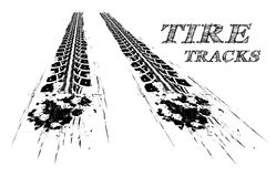 Tire tracks. Vector illustration on white background Stock Images