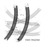 Tire tracks. Vector illustration on white background Royalty Free Stock Image