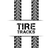 Tire tracks. Vector illustration on white background Stock Photography