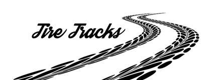 Tire tracks Royalty Free Stock Photos