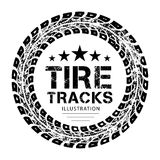 Tire tracks vector. Tire tracks. Vector illustration on white background Royalty Free Stock Image