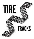 Tire tracks vector. Tire tracks. Vector illustration on white background Stock Images
