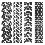 Tire tracks - vector set Royalty Free Stock Images