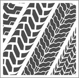 Tire tracks - vector set Royalty Free Stock Photos