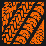 Tire tracks - vector set Stock Photo