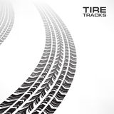 Tire tracks on white Royalty Free Stock Photo
