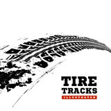 Tire tracks on white. Tire tracks. Vector illustration on white background Royalty Free Stock Photos