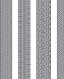 Tire tread. A sample of four different styles of tire tread Stock Image