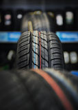 The tire tread. The tire tread in workshop Royalty Free Stock Photo