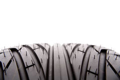 Tire tread. Closeup of rubber tire tread Royalty Free Stock Images