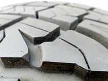 Tire tread closeup in a tire  shop Royalty Free Stock Image