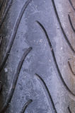 Tire tread for motorcycle Royalty Free Stock Photography