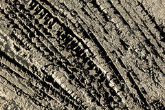 The tire tread mud background Royalty Free Stock Photos