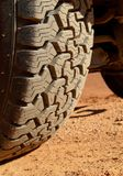 Tire tread of an off-road SUV. Royalty Free Stock Image