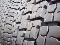 Tire tread perspective Stock Image