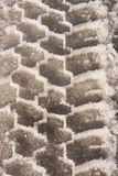 Tire Tread In Snow And Ice Royalty Free Stock Photography
