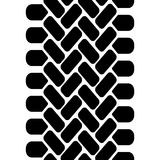 Tire tread track seamless pattern, vector Royalty Free Stock Image