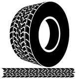 Tire Tread and Tracks. An image of a 3d tire tread icon Stock Photography