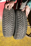 Tire tyre change Royalty Free Stock Photo